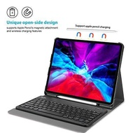 "ProCase iPad Pro 12.9 ""4th Generation Keyboard Case [Apple Pencil 2 Wireless Charging] น้ำหนักเบาเคสซัมซุงที่วางปากกาที่ถอดออกได้แป้นพิมพ์ไร้สายอุปกรณ์คอมพาทิเบิล: iPad Pro 12.9นิ้ว4th Generation-2020 / 3rd Generation-2018 - Blac"