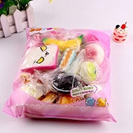 Soft simulation Squishies, Slow Rising Squishy Toys Squeeze Toy Stress Relief 10pcs Medium Mini Soft Squishy Bread cute squishy package Toys Key rising wipes anti-stress toys Magic Artifact