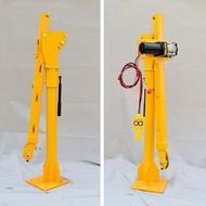 手搖吊車 12v/24v車載吊機 小型車用小吊機220v家用電動葫蘆液壓吊車起重機 領券下定更優惠