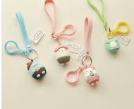 日本可愛角落生物公仔鑰匙扣掛件少女心墻角小動物書包掛飾粉色女