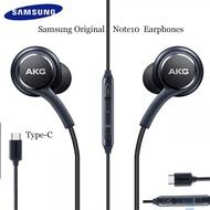 AKG หูฟังสีดำ EO IG955 Type-C หูฟังพร้อมไมโครโฟนชุดหูฟังสำหรับ Galaxy Samsung note10/note10 + Huawei Xiaomi สมาร์ทโฟน