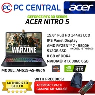 Acer Nitro 5 (AN515-44-R6JN) R6JN | AMD Ryzen 7 5800H | RTX 3060 |  8gb RAM |  512gb SSD (PC Central)