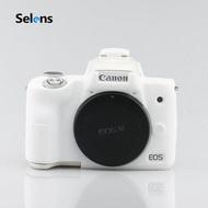 Selens เคสซิลิโคนกล้อง Canon Eos M50 เปิดแบตได้ ซิลิโคนนุ่มคุณภาพดี กันรอยกันกระแทก มีให้เลือกหลากสี Camera Soft Silicone Rubber Protector Skin Case Cover ซิลิโคนนิ่มป้องกันร่างกาย Skin เคสกระเป๋าสำหรับกล้อง Canon EOS M50 Eosm50 กล้อง