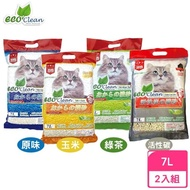 【ECO艾可】豆腐貓砂《原味/綠茶/玉米》7L(3包組)