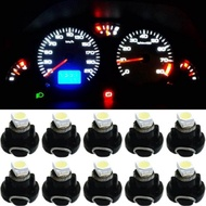 คุณภาพดี12V 0.2W T3โคมไฟ LED ไฟรถยนต์หลอดไฟแผงวงจร10x T3 Cluster เครื่องวัด LED 7สี