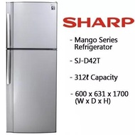Sharp 312L 2 Door Fridge SJD42TSL * READY STOCK, LOCAL WARRANTY