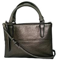 (Coach) Coach Mini Borough Bag Metallic Leather Shoulder or Crossbody Bag 32322-F32322