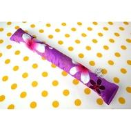 【寶貝童玩天地】【HO017-5】黃豆棒 敲敲棒 拍打棒 客家花布 單色款 - 紫色
