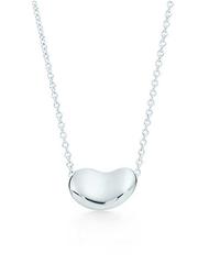 美國百分百【全新真品】Tiffany & Co. 項鍊 相思豆 純銀 925 bean 銀飾 墜飾 專櫃 BC48