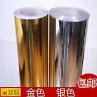Wall Stickers Furniture change color stickers Thick gold and silver mirror stickers self-adhesive PVC wallpaper Wallpape