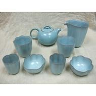 台灣陶瓷名家《蘇保在》老款青瓷壺具組(共八件)