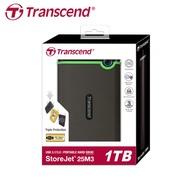 公司貨 Transcend 創見 StoreJet 25M3 USB3.0 2.5吋 三層抗震 行動硬碟 1/2T 兩色