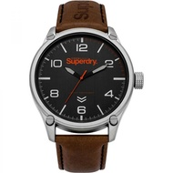 Superdry Military SYG200TB Analog Quartz Brown Leather Mens Watch