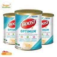 Boost Optimum Vanilla 3x800g บูสท์ ออปติมัม กลิ่นวานิลลา อาหารเสริมและเวย์โปรตีนที่จำเป็น สำหรับผู้สูงอายุ 3x800 กรัม