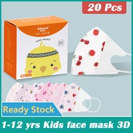 20 Pcs FaceMask for Kids Boy and Girl FaceMask 3 Ply FaceMask with Cartoon Design FaceMask for Haze Baby FaceMask 3d