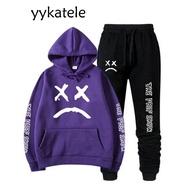 """2020ใหม่ Yykatele เสื้อกันหนาวมีฮู้ด Lil Peep + สำหรับทั้งหญิงและชาย Sweatpants """""""" """""""" """""""" """""""" """""""" """"ฮิปฮอป Lil Peep Cry เสื้อกันหนาวสำหรับเด็กสอง Sweatshirts"""