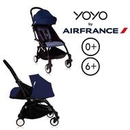 法國 BABYZEN YOYO + 0+ 嬰兒手推車+新生兒套件-(黑骨架) 法航聯名款★衛立兒生活館★