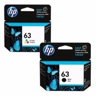 VALUE PACK Original HP 63 Ink Cartridge for HP DJ 1110/2130/3630 Printer (Black and color)