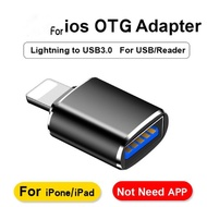 【ready stock】㍿□OTG iPhone Lightning to USB 3.0 Camera Adapter For iPhone 7 8 6 6s Plus 11 12 Pro Max X XS XR Kit Convert