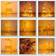 聖誕鹿拉車大型場景布置發光鐵藝麋鹿馴鹿擺件商場聖誕節裝飾品 居家物語 全館免運