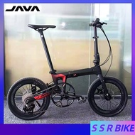 Java X3 Foldable Bicycle Carbon Fiber Bike 9 Variable Speed Oil Pressure Double Disc Brake Men's And Women's Cycling