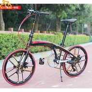 Hito X4 Folding Bicycle 22/20 Inch Shimano 7 Speed Foldable Bicycle Lightweight Aluminum Alloy Male and Female Adult Student Go to Work Bicycle