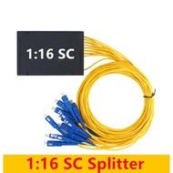 1 : 2 / 1 : 4 / 1 : 8 / 1 : 16 FTTH Fiber Splitter Cable SC Fiber Splitter