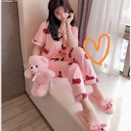 ﹊  New pajama Sleepwear Sleepwear tre pajama Sleepwear set FOr women -Girl