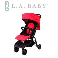 【L.A BABY 美國加州貝比】旅行摺疊嬰兒手推車(紅色)
