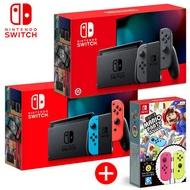 Nintendo Switch 電量加強版 +超級瑪利歐派對 Joy-Con組合包