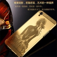 F Creative Oppo A37 Metal Frame Mobile Phone Case Back Cover R9plusProtective Cover R7 Chinese Wind Dragon Pattern New A (Color:Silver Chinese Dragon / Size: A39) - intl