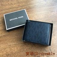 《萱萱代購》 實拍 Michael Kors MK 專櫃款 男短夾 男款 短夾 皮夾 錢包 滿版 logo