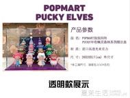 POPMART泡泡瑪特 PUCKY畢奇精靈森林聖誕系列展示盒壓克力模型盒