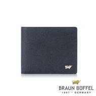 【BRAUN BUFFEL 德國小金牛】台灣總代理 尚恩A 8卡皮夾-藍色(BF354-313-NY)