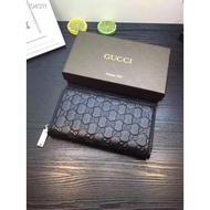 👞: New!!ส่งด่วน เจ้าใหญ่ งานดี GUCCI long men's leather classic GG logo wallet