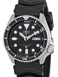 * MADE IN JAPAN * SEIKO AUTOMATIC MENS CLASSIC DIVERS BLACK BEZEL, BLACK DIAL SKX007J