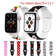 Sport Silicone Band for Apple Watch Band 1/2/3 42mm 38mm Apple Watch 44mm 40mm Strap Cartoon Bracelet for Apple Watch 4/5/6/SE Accessories