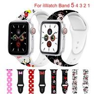สปอร์ตซิลิโคนวงสำหรับApple Watchวง2/3 42มิลลิเมตร38มิลลิเมตรแอปเปิ้ลดู44มิลลิเมตร40มิลลิเมตรสายการ์ตูนสร้อยข้อมือสำหรับApple Watch 4/5/6/SEอุปกรณ์เสริม