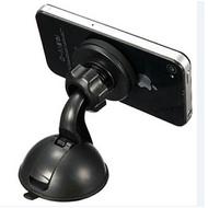 新款強力磁吸萬用手機吸盤車架 附引磁片 360旋轉度 手機支架 衛星導航 玻璃吸附 儀表板架【SV6658】BO雜貨