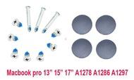 macbook pro 13 15 17 A1278 A1286 a1297 Bottom Case Screw and feet สกรู และ จุกยางรองฝาล่าง