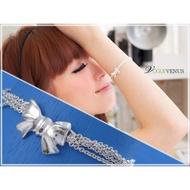 Tiffany款式~925純銀蝴蝶結項鍊