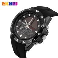 時刻美 SKMEI 1064 男士 太陽能手表 石英數字LED顯示屏防水手錶 學生戶外運動腕錶 時尚流行錶款