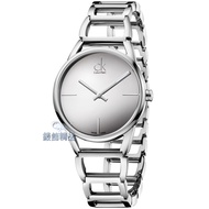 【錶飾精品】CK手錶 Calvin Klein 時尚簡約 鏡面 鏤空鍊帶女錶 K3G23128 全新原廠正品 情人禮品