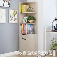 【天天好貨】白楓色寬30/40厚30高137 152cm簡易多層轉角柜書架落地置物書柜子