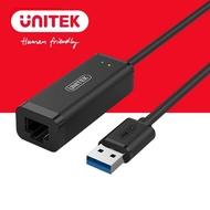 【UNITEK】USB3.1 Gen1 轉RJ45有線網卡 Y-3470BK(USB)