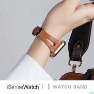 【朵朵雲裝飾】適用蘋果手表5代iwatch表帶五代創意皮質真皮38/42/40/44mm時尚細表帶鏤空apple wat