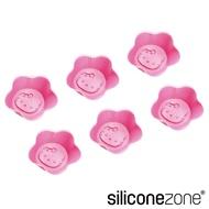 【Siliconezone】高品質食品級 施理康 台灣Hello Kitty 正規授權 耐熱矽膠6入杯子蛋糕模 烘焙烤盤
