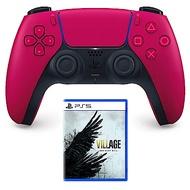 PS5 DualSense 無線控制器 星塵紅 + 遊戲片×1