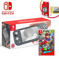 【NS組合】任天堂 Switch Lite 灰色主機+超級瑪利歐 奧德賽《中文版》+堅硬外殼+保護貼【三井3C】