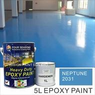 5Litre ( NEPTUNE 2031 ) Paint Epoxy Floor Paint Coating ( FOUR SEASONS ) 5L (Cat Lantai Simen Epoxy) M